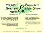 Most Beautiful Names, September 2008